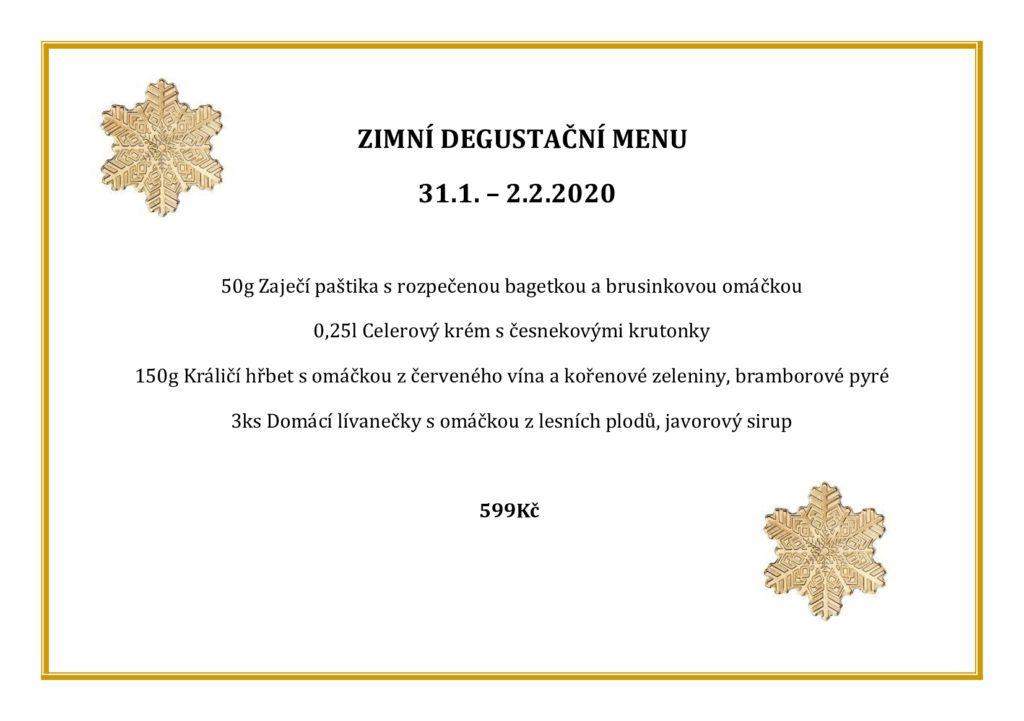 zimní degustační menu