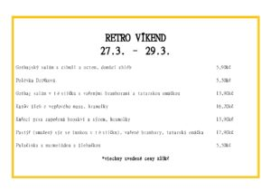 Retro víkend menu