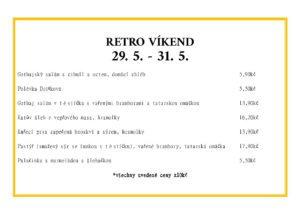 Retro víkend menu